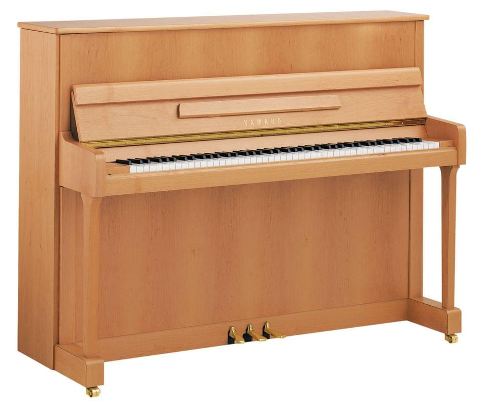 Imagen piano vertical YAMAHA. P Series. Model P116 color haya satinado