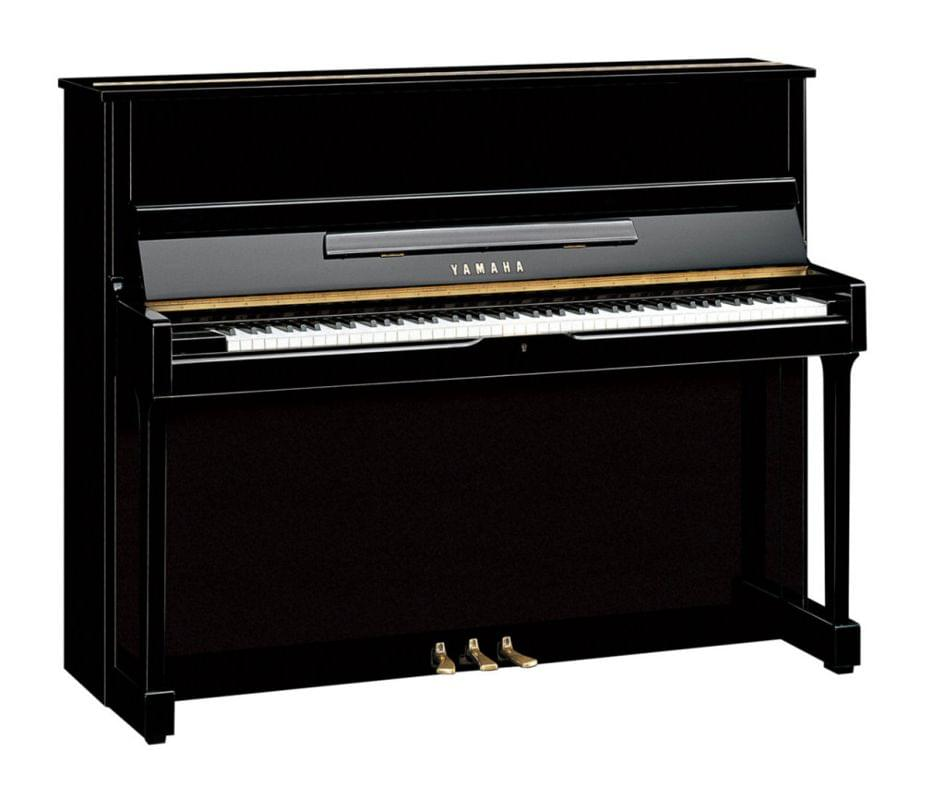 Imagen piano vertical YAMAHA SU Series. Model SU118C color negro pulido