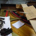 Imagen de la restauración de un piano vertical Bechstein en el taller de Corrales Pianos. 11