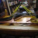 Imagen de la restauración de un piano vertical Bernareggi en el taller de Corrales Pianos. 09