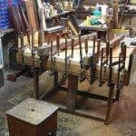 Imagen de la restauración de un piano vertical Bernareggi en el taller de Corrales Pianos. 10